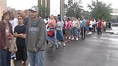 Hundreds Line Up For Chance Of A Job With Ford