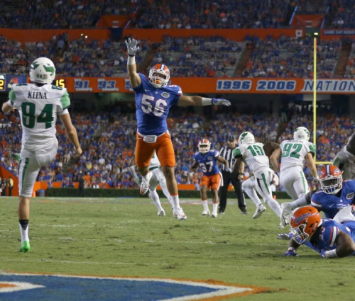 Cristian Garcia has gone from the video room to potentially starting for the Florida Gators. (Courtesy of UF)