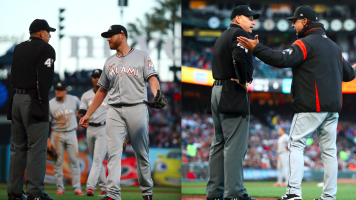 Marlins manager, player receive suspensions