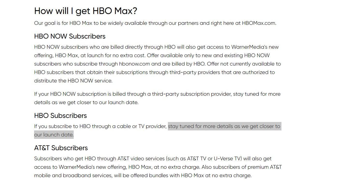 HBO Max FAQ