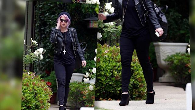 Kelly Osbourne is All Smiles Despite Reports Sharon and Ozzy have 'Split'