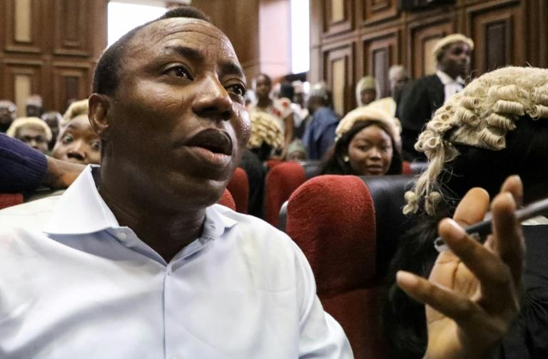 Sowore, an avowed government critic who stood for president earlier this year, was accused of treason after calling for mass protests against the government (AFP Photo/KOLA SULAIMON)