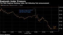 Banks Sink theMost in 2 Months, Bearingthe Brunt of Fed's Dovish Turn