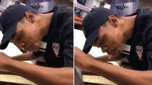 Fast food worker arrested after filmed 'spitting on food'