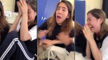 VIDEO   La alegría de una joven al ser admitida en la UNAM provoca lágrimas de emoción