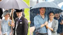 Kate Middleton and Prince William Just Cuddled Up Under an Umbrella —Just Like Meghan and Harry!