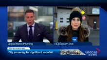 Toronto prepares for significant snowfall as winter storm moves in