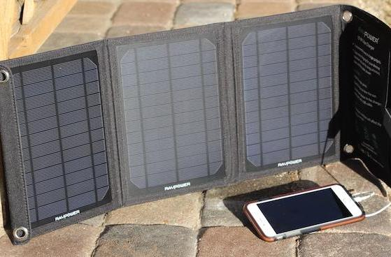 RAVPower 15W Solar Charger, Savior battery pack keep your gadgets going