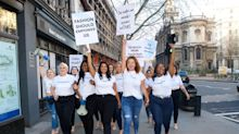 David Hasselhoff's daughter leads 'army' of curvy models protesting lack of diversity at London Fashion Week