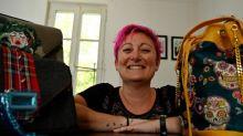 Une ex-gendarme se reconvertit dans la maroquinerie punk et vegan