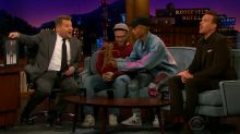 Jaden Smith gives out his old dreadlocks on 'The Late Late Show'