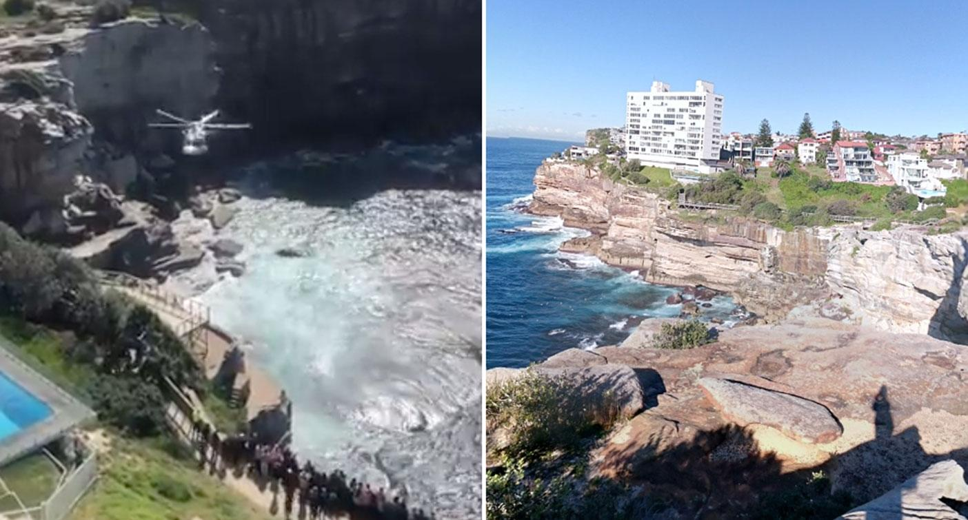 Woman 'taking photos' dies after falling off cliff in affluent Sydney suburb