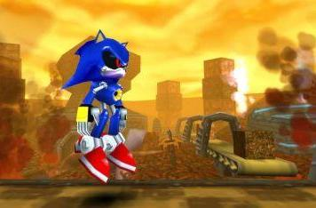 Metal Sonic appears in Sonic Rivals