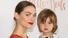 Supermodel Jaime King's son wears a dress on the red carpet
