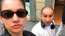 This woman takes selfies with the men who harass her on the street