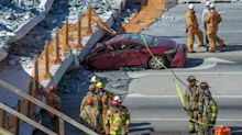 VIDEO: Así fue el momento del desplome de un puente peatonal en Miami