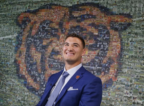 QB Mitchell Trubisky will likely determine the success or failure of GM Ryan Pace in Chicago. (AP)