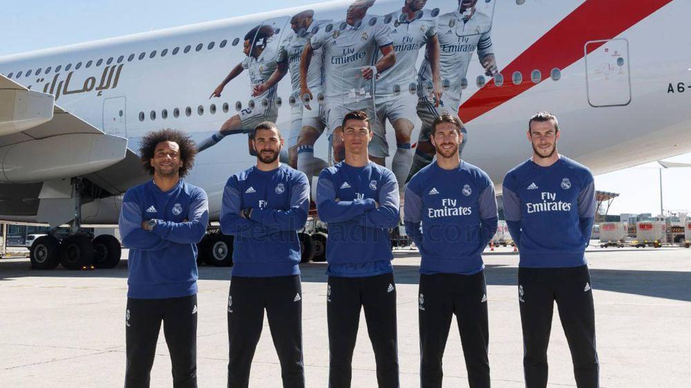 Voo de craques: Marcelo e estrelas apresentam o novo avião do Real Madrid