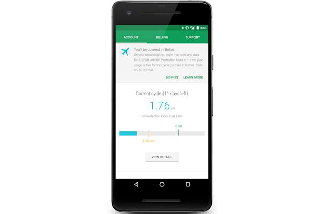 Google's Project Fi now covers 170 countries with international data
