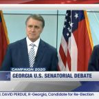 Watch: Georgia debate gets heated as Sen. David Perdue is labeled a 'crook' by rival Jon Ossoff