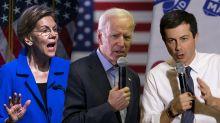 Warren, slumping in the polls, attacks Biden and Buttigieg