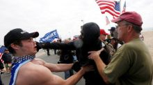 Fights erupt at pro-Trump rally on California beach