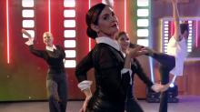 Fátima Bernardes banca a Madonna e dança no 'Encontro'
