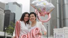 Hong Kong's LGBT supporters rally in Central, calling for city to follow Taiwan's example on same-sex marriage