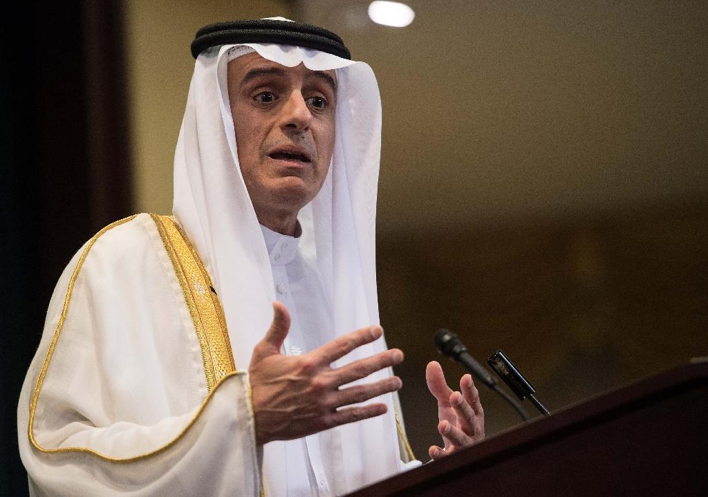 Saudi Foreign Minister Adel al-Jubeir holds a press conference in Washington, DC, on July 15, 2016, following the release of 28 pages of a 9/11 Congressional report (AFP Photo/Nicholas Kamm)