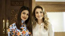 Priyanka Chopra meets Queen Rania of Jordan during her visit as UNICEF Goodwill Ambassador