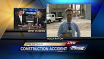 3 construction workers injured by 2,000 pounds of falling material