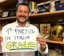 Matteo Salvini triumphs in European elections, taking nearly 35 per cent of Italian vote