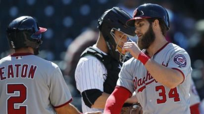 Nationals nearly match Royals' season run total during series at Coors Field