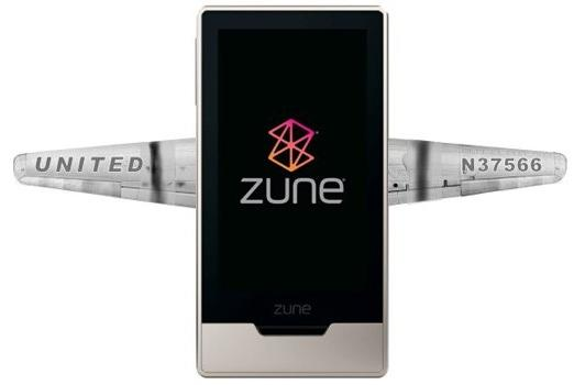 Zune HD taking to the skies with United Airlines in-flight entertainment trial