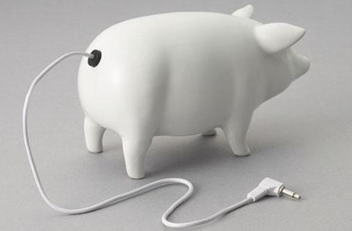 Piggy speakers are so cute they make us wish we were still vegetarians