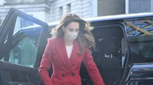 Kate Middleton Channeled Princess Diana In a Bright Red Coat
