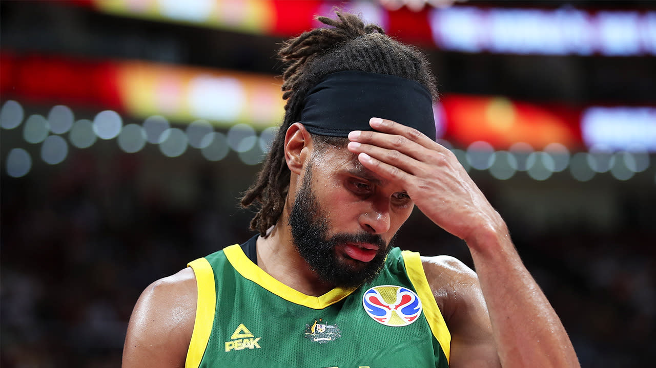 'Well that's awkward': Blunder that left Patty Mills confused after WC heartbreak