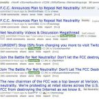 Reddit's homepage has been covered in net neutrality protests over the past day