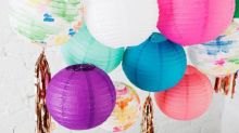 Use Watercolors to DIY These Colorful Party Lanterns