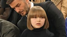 Harper Beckham Had the Cutest Bob Cut With Bangs at Victoria's LFW Show