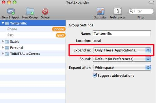 Use TextExpander and Twitterrific to avoid Twitter spam