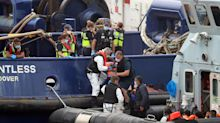 Young children among migrants brought ashore in latest wave of crossings