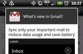 Gmail v2.3.5 for Android adds label-specific ringtones and sync priority mail only options