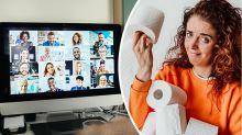 Mum's 'horrifying' blunder caught on husband's work video call