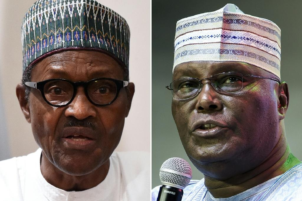 Muhammadu Buhari, left, defeated former vice president Atiku Abubakar, in the February 23 presidential elections (AFP Photo/PIUS UTOMI EKPEI)