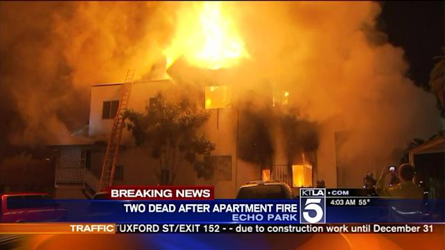 Fatal Fire Rips Through Apartment Building in Echo Park