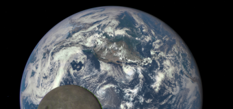 NASA Spaceship Captures Epic Shot Of Moon Passing In Front OF The Earth
