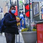 New Yorkers should wear face coverings, mayor advises