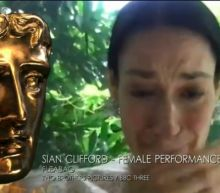 Sian Clifford cries after winning TV Bafta as Phoebe Waller-Bridge gives her a 'Godmother' statue