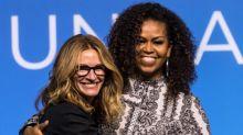 Michelle Obama y Julia Roberts animan juntas a líderes asiáticas del futuro